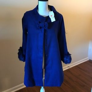 Pea coat Royal Blue UNIQUE from Japan NWT